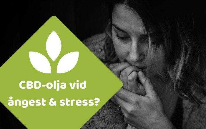 cbd olja ångest depressio
