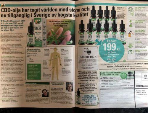CBD säljs & marknadsförs i Sverige igen